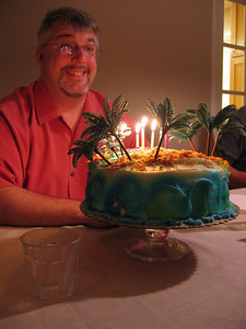 Mike with cake